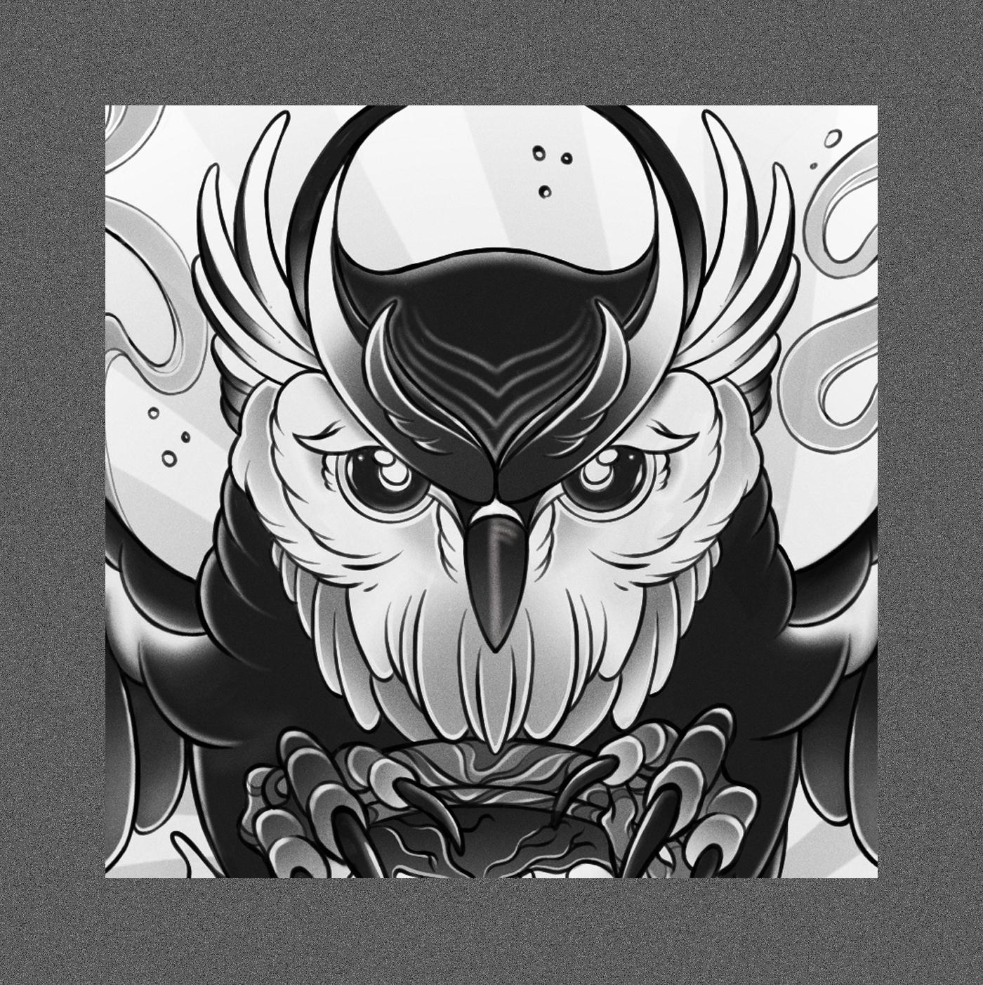 Owl Tattoo 04
